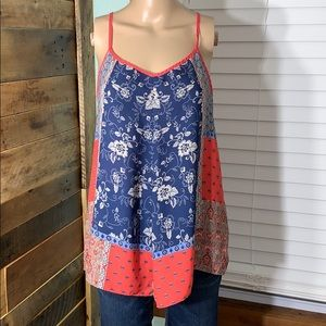Maurices Silky Spaghetti Strap Tank Top Relaxed Sm